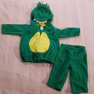 Alligator fleece costume 3-6 months